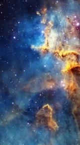 Cassiopeia nebula face & form multiple light rotate