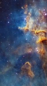 Cassiopeia nebula facce & form multiple rotate