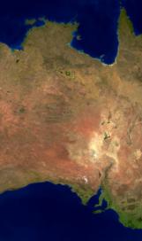 Australia land mass face multiple