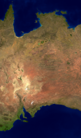 Australia land mass face multiple flip