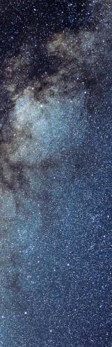 Milky Way galaxy face & form multiple light flip