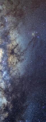 Milky Way galaxy face & form multiple 2 light flip