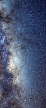 Milky Way galaxy face & form multiple 3 light flip
