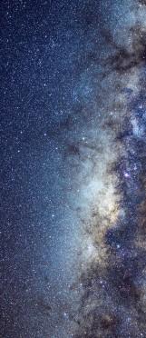 Milky Way galaxy face & form multiple 3 light
