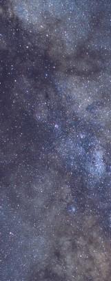 Milky Way galaxy face & form multiple 4 flip
