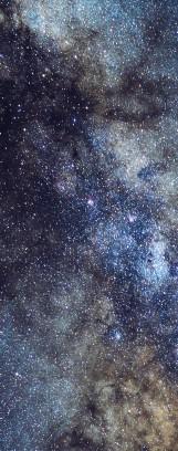 Milky Way galaxy face & form multiple 4 light flip