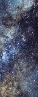 Milky Way galaxy face & form multiple 4 light