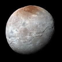 "Pluto moon egg with hexagonal & ""gravitized"" round"