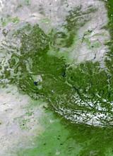 North America land mass face multiple light